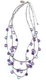 Blues Triple Blossom Necklace