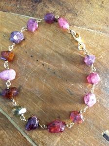 Tourmaline Wire Wrapped Bracelet