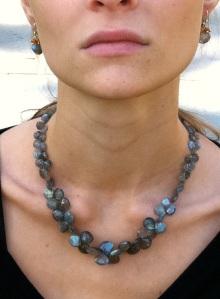 Labradorite Ruffle Necklace