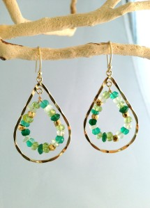 earrings_hoop green_web