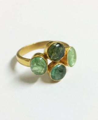 ring_green tourmaline four stone_
